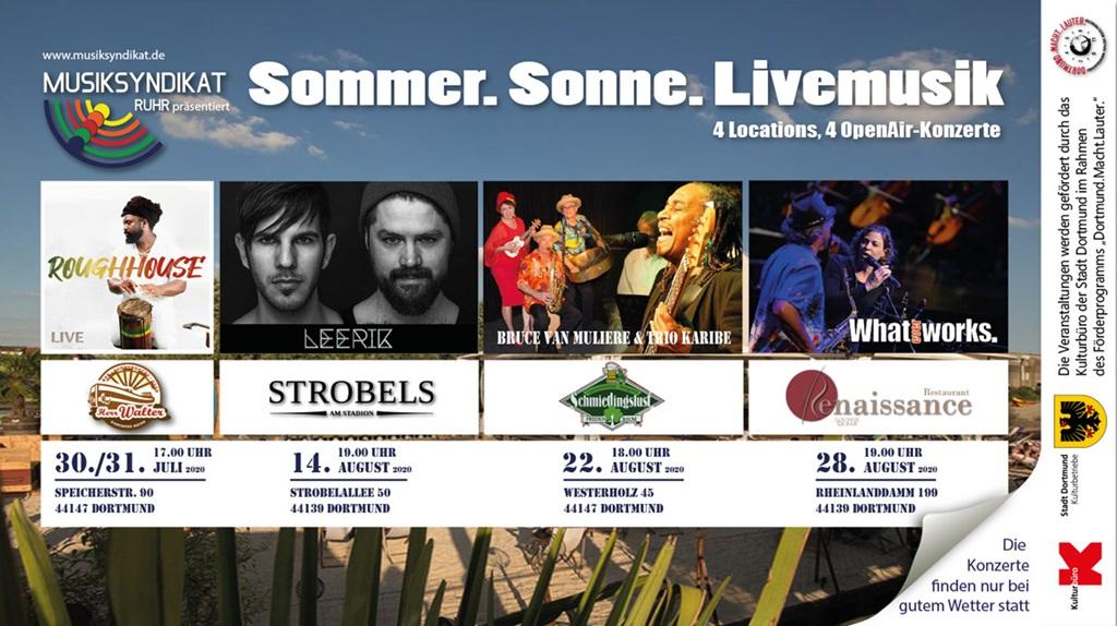 22.08.2020 Bruce van Muliere & Trio Karibe in der Schmiedingslust-Fredenbaum
